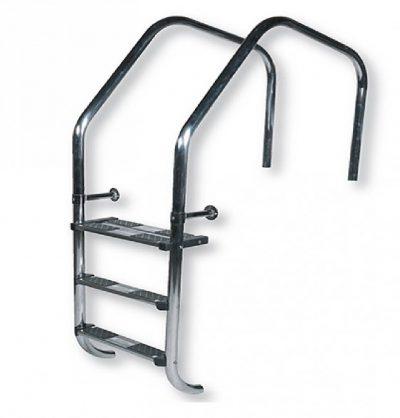 Σκάλα υπερχείλισης AISI-316 - 2 σκαλοπάτια mixed