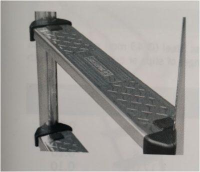 Σκάλα Inox AISI-304 Standard - 2 σκαλοπάτια standard