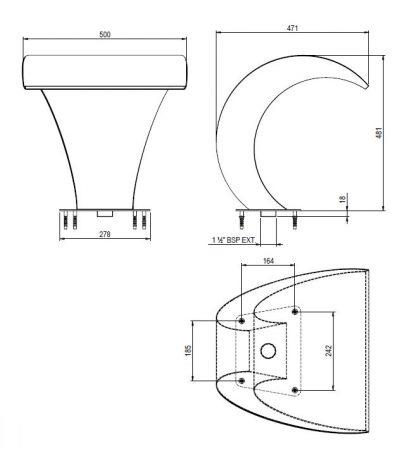 Νεροκουρτίνα A-500 AISI-316 stainless steel, AstralPool