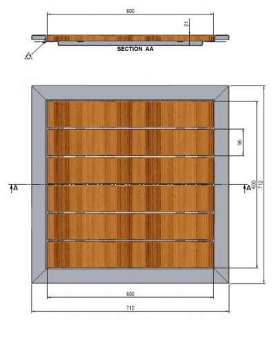 dimensions tray