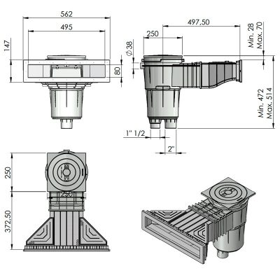 dimensions skimmer norm 58707