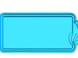 Πολυεστερική πισίνα Golf 900 x 380 x 150cm skimmer