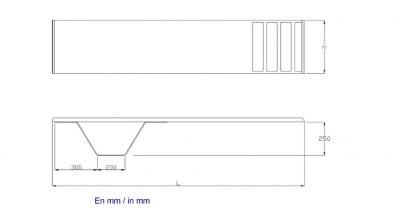 Βατήρας Ballesta μήκους 1,80 μέτρων