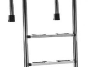 Σκάλα Muro Inox AISI-316 με 2 σκαλοπάτια luxe