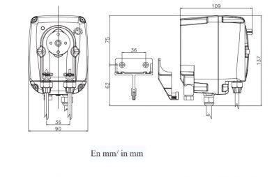Δοσομετρική αντλία χημικών, περισταλτικής λειτουργίας, 4 l/h - 3 bar AstralPool