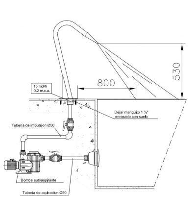 Κανόνι Inox 316 AstralPool (πλακέ έξοδος)